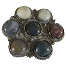 Vintage various Gemstone pendant, Spain.