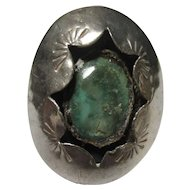 Sterling silver, turquoise shadow ring