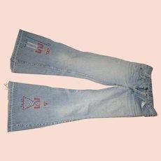 Vintage 1970's Bell bottom Levi Jeans/Orange tag