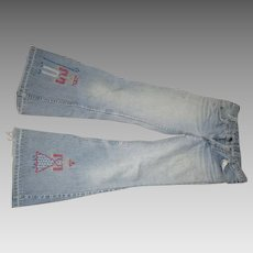 Vintage 1970's Bell bottom Levi Jeans/Orange tag