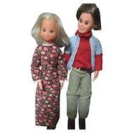 Vintage 1973 Mattel Inc Sunshine Family dolls