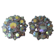Vintage Juliana AB clamp earrings