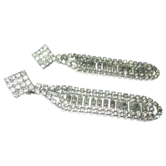 Gorgeous long dangle crystal earrings