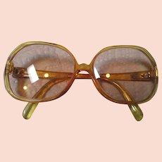 0e21e15b4c Christian Dior Italy Vintage Sunglasses Ladies Wrap Around Logo ...