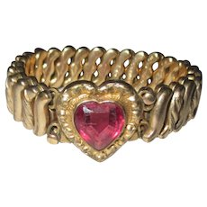 Vintage sweet heart bracelet/D.F.B Co.