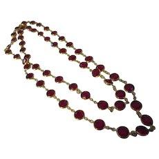 Swarovski crystal bezel long necklace