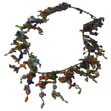 Fun all glass beaded necklace