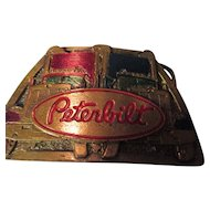 Collectable Peterbilt Brass/enamel/ belt buckle