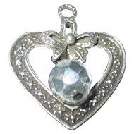 Vintage 1940's Sterling heart pendant