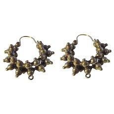 Victorian 1880's Sterling/14k wire earrings