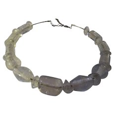 Fun Vintage various shaped Glass bead choker necklace