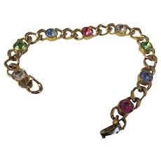 Gold tone, rhinestone bracelet