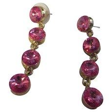 Pair of beautiful crystal Rivoli drop earrings