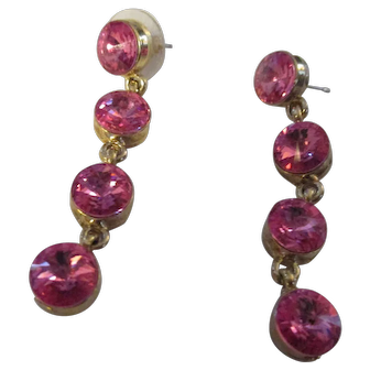 Pair of beautiful crystal Rivoli drop earrings