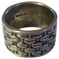 Sterling Wide ring