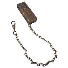 Vintage sterling Belt loop/ watch Fob.