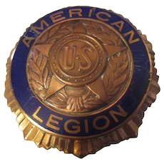 American Legion Copper 1919 Ford Auto Grill Badge Emblem