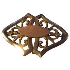 Art Deco gold filled pin/pendant