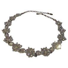 Fabulous LISNER bright and shiny rhinestone necklace