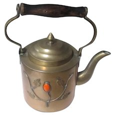 Vintage China brass tea kettle