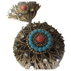 Vintage CoroCraft pendant/brooch Locket