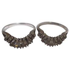 Matching Sterling Brilliant rhinestone rings