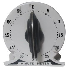 Art Deco Minute Meter