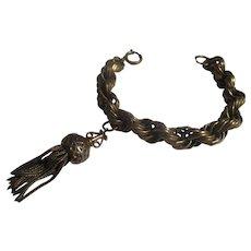 Early 1940's Brass triple link German Charm bracelet