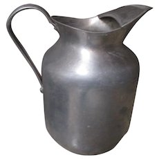 Vintage Dura Ware Aluminum water pitcher.
