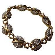 Fabulous Joan Rivers gold tone, rhinestone bracelet