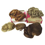 Vintage Doll wigs from Doll parts x 5 wigs