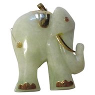Fabulous beautiful 585 European 14k yellow gold elephant pendant