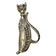 Prim and proper siamese sterling, marcasite's brooch