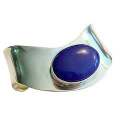 Lapis & Sterling Silver Cuff Bracelet
