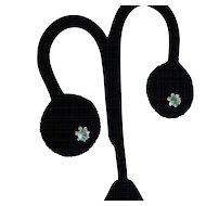 Rare Baby Blue Tourmaline in Sterling Silver Stud Earrings