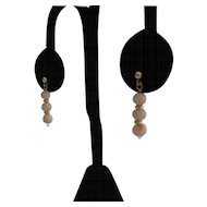 Angel Skin Coral Earrings in 14 kt Gold Ball Posts