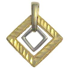 10 kt Yellow & White Gold Pendant With Laser Cutting