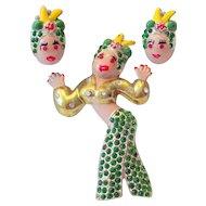 Carmen Miranda Pin & Earring Set