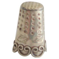 Thimble Sterling Silver Signed