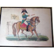 """Antique Lithograph, """"Alexander, 1st Emperor of All the Russias"""" 1815"""