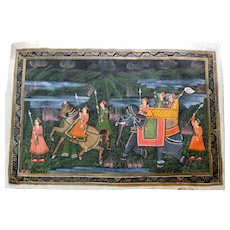 Traditional Paintings on Silk, India, Ca 1900