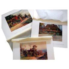 Series of Three English Cottage Prints, Ca 1910