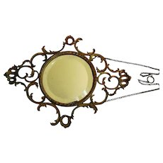 Early Gilt Metal French Style Wall Mirror