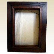 Vintage Deep Walnut Picture Frame/Shadow Box