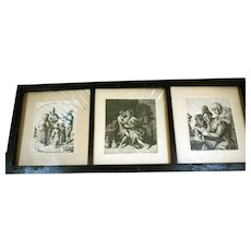David Deuchar Framed Etchings, Ca 1802