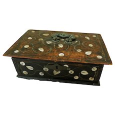 18th Century Document Box w/Mother of Pearl Inlay