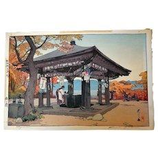 Hiroshi Yoshida Signed Japan Woodblock Print, Utagahama