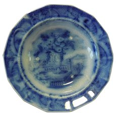 18th Century Flow Blue Cup Plate, Spode