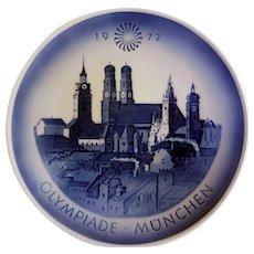 Royal Copenhagen Commemorative Plate, 1972 Olympics, Munich