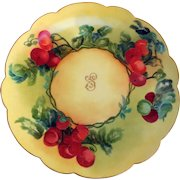Antique Porcelain Charger, Hand-Painted, Limoges